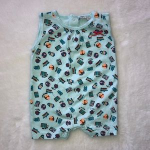 MEXX BNWOT turquoise romper size 6-9 months